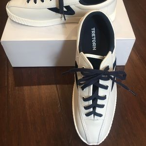 New. Tretorn leather sneakers.